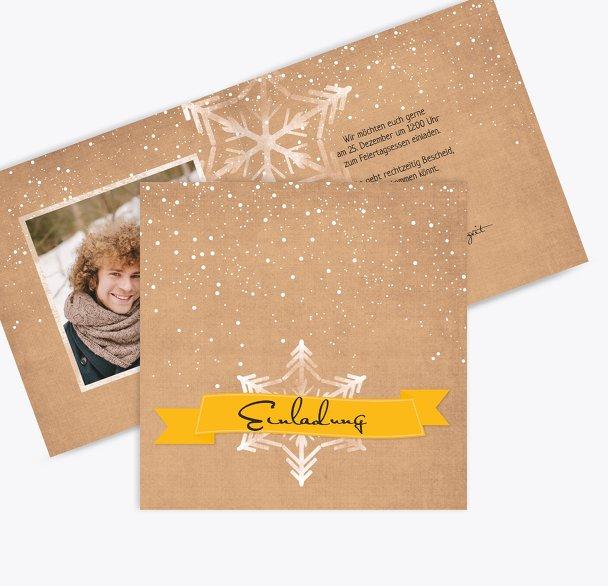 Foto Einladung Schneestern