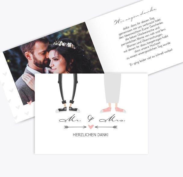 Hochzeit Dankeskarte Pärchen