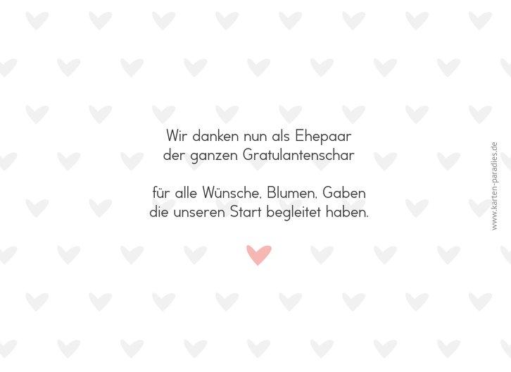 Ansicht 2 - Hochzeit Dankeskarte Pärchen