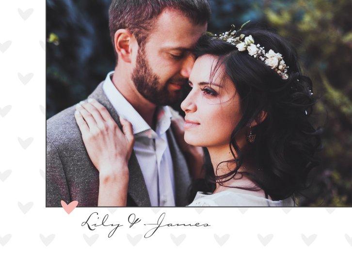 Ansicht 4 - Hochzeit Dankeskarte Pärchen