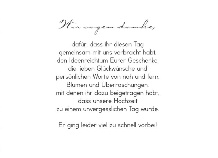 Ansicht 5 - Hochzeit Dankeskarte Pärchen