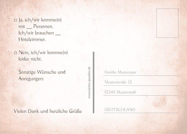 Ansicht 3 - Hochzeit Antwortkarte Herz