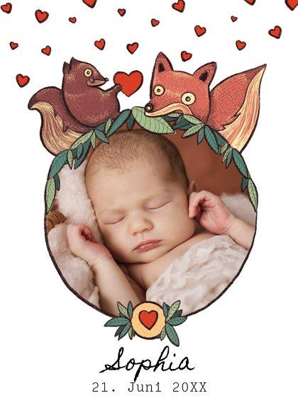 Ansicht 2 - Baby Dankeskarte Waldtiere