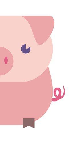 Ansicht 2 - Neujahrskarte Glücksschwein