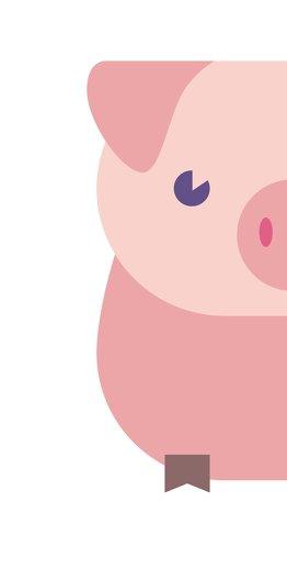 Ansicht 4 - Neujahrskarte Glücksschwein
