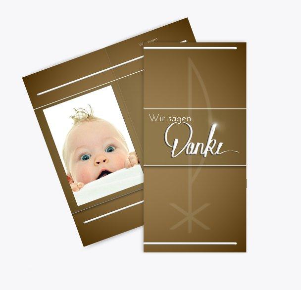 Taufe Dankeskarte Chi-Rho