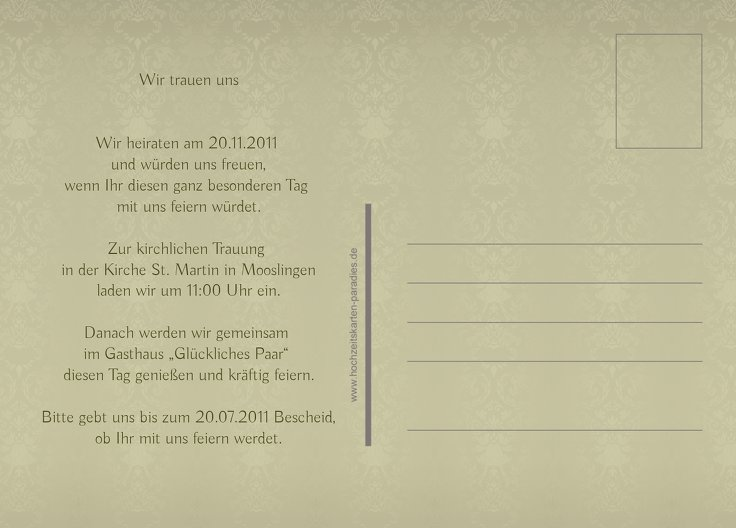 Ansicht 3 - Save-the-Date Eheversprechen