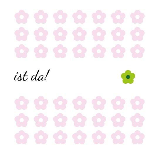 Ansicht 2 - Babykarte Blumentapete