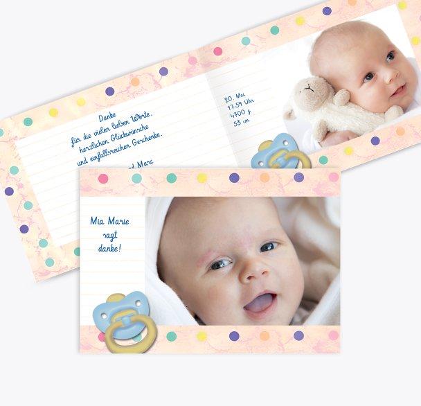 Baby Dankeskarte Smarties