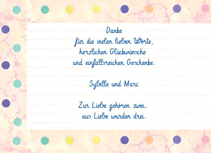 Ansicht 4 - Baby Dankeskarte Smarties