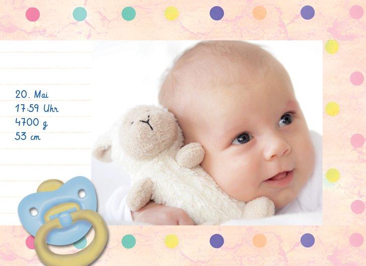 Ansicht 5 - Baby Dankeskarte Smarties