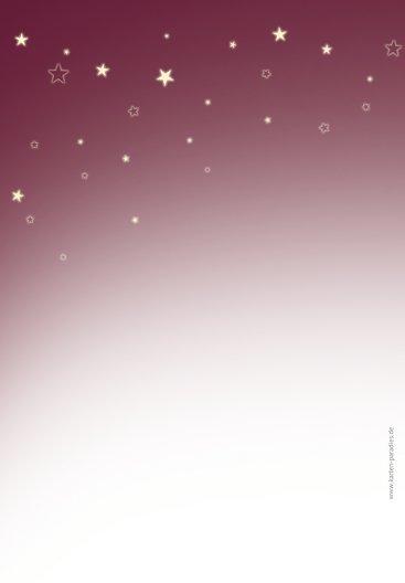 Ansicht 2 - Menükarte klassischer Sternenhimmel