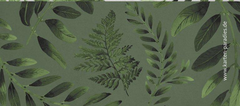 Ansicht 2 - Hochzeit Tischkarte Blätterwerk