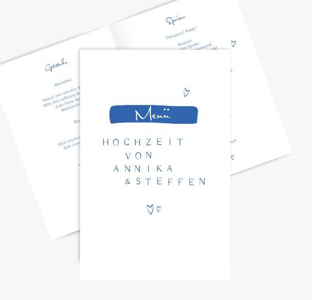 Hochzeit Menükarte Buchstabenrätsel