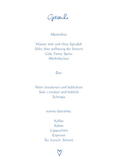 Ansicht 4 - Hochzeit Menükarte Buchstabenrätsel