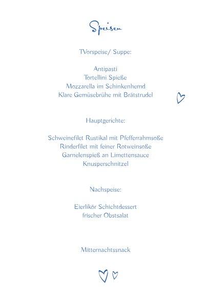 Ansicht 5 - Hochzeit Menükarte Buchstabenrätsel
