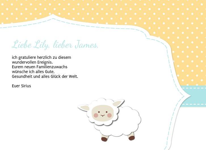 Ansicht 5 - Glückwunschkarte zur Geburt Schäfchenherde