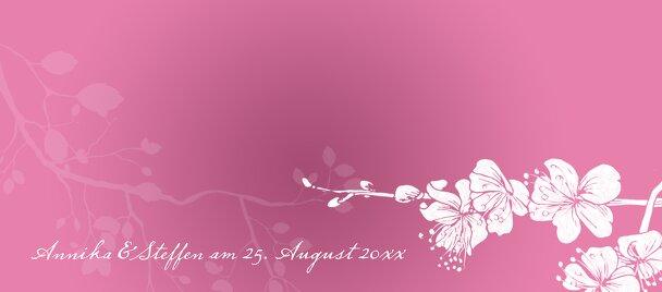 Ansicht 3 - Hochzeit Tischkarte Cherry Blossom