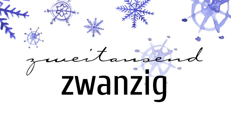 Ansicht 3 - Neujahrskarte Schneeflocken