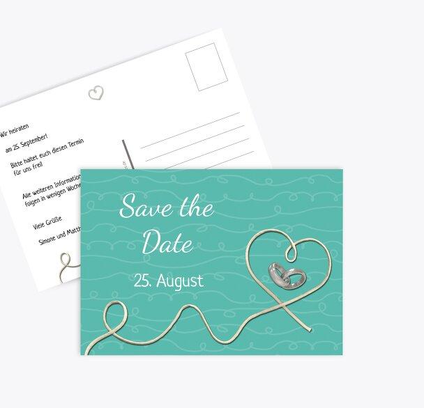 Hochzeit Save-the-Date erfüllte Liebe
