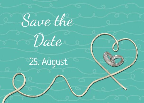 Ansicht 2 - Hochzeit Save-the-Date erfüllte Liebe