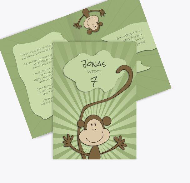 Einladung zum Kindergeburtstag Affenparty