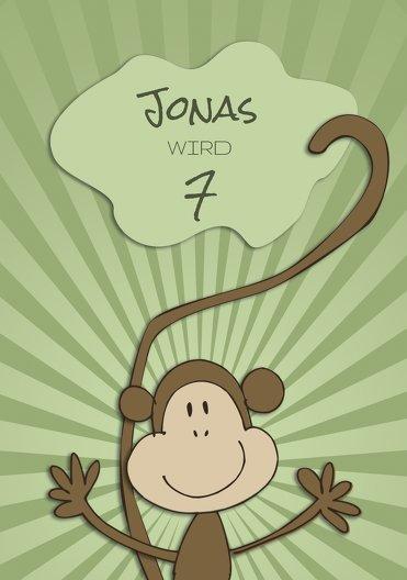 Ansicht 3 - Einladung zum Kindergeburtstag Affenparty