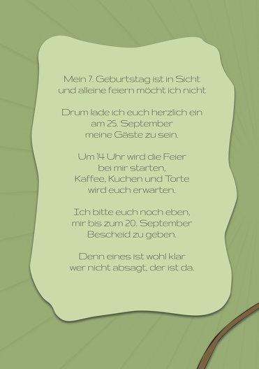 Ansicht 4 - Einladung zum Kindergeburtstag Affenparty