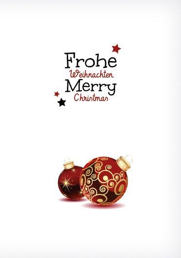 Ansicht 3 - Grußkarte Weihnachtskugeln