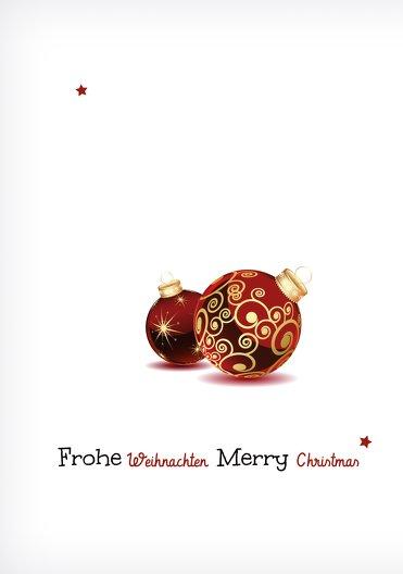 Ansicht 4 - Grußkarte Weihnachtskugeln