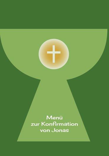 Ansicht 3 - Konfirmation Menükarte Kelch mit Hostie