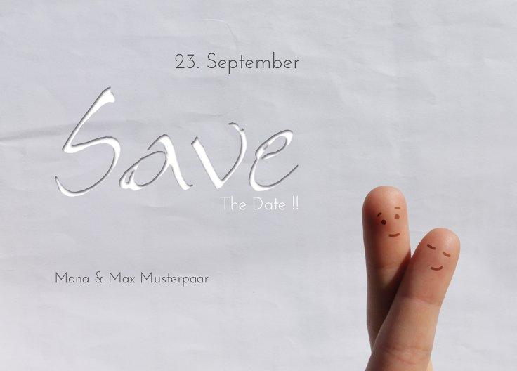 Ansicht 2 - Save-the-Date Fingerpaar