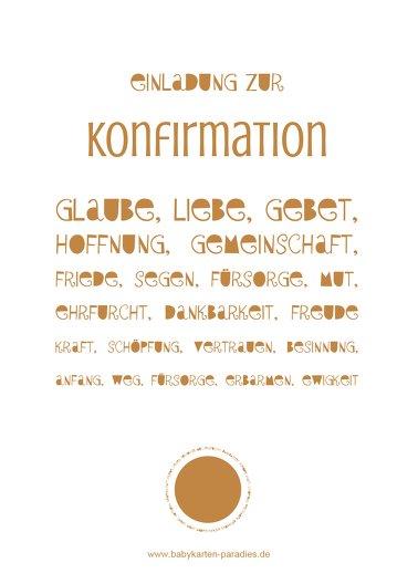 Ansicht 2 - Einladung zur Konfirmation Spruchkreis