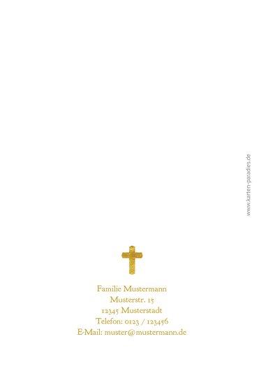 Ansicht 2 - Taufe Einladung Goldrausch