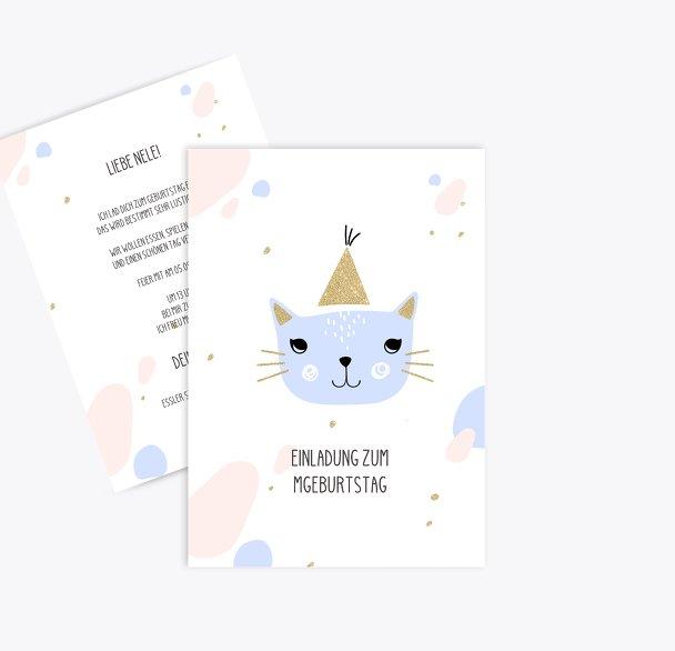 Einladung Kindergeburtstag Katzenparty