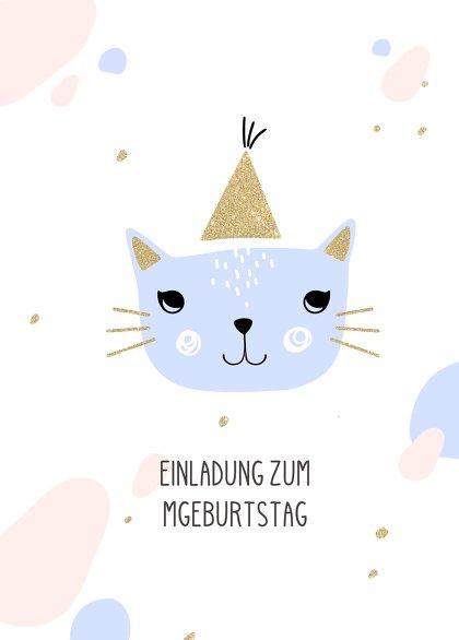 Ansicht 2 - Einladung Kindergeburtstag Katzenparty