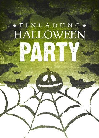 Ansicht 2 - Halloweenkarte Spinnennetz