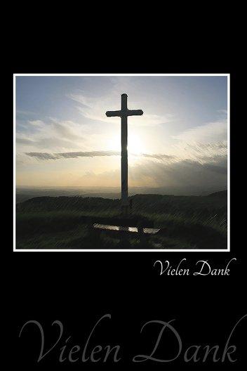 Ansicht 3 - Dankeskarte Kreuz