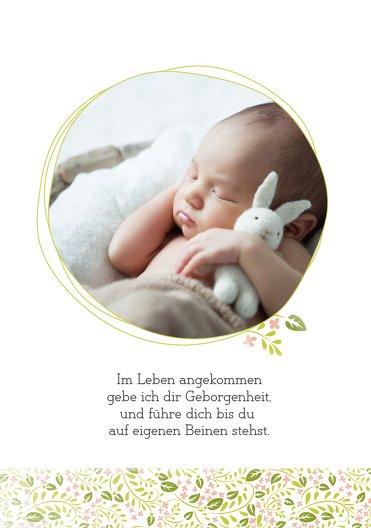 Ansicht 4 - Taufe Dankeskarte Blumenkreuz