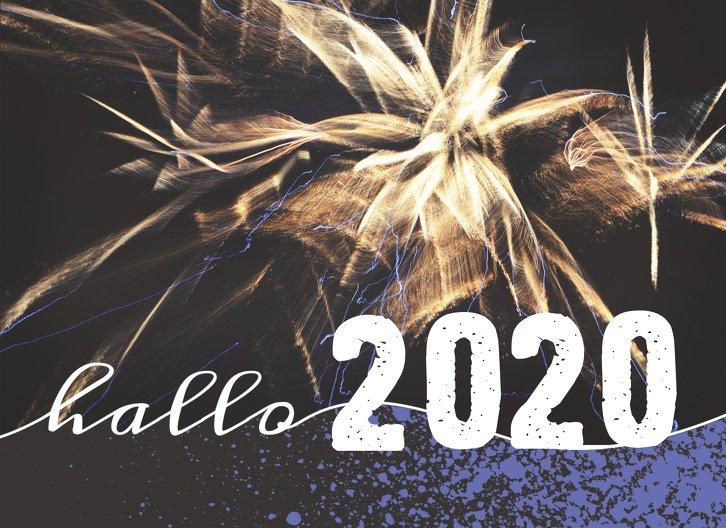 Ansicht 3 - Neujahrskarte Feuerwerk