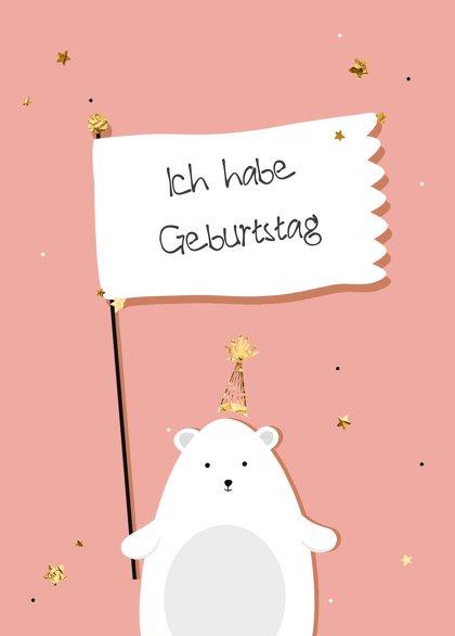 Ansicht 2 - Einladung Kindergeburtstag Eisbär