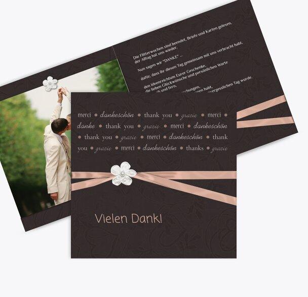 Hochzeit Dankeskarte sanfte Blüte