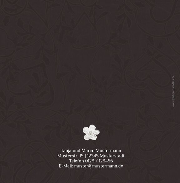 Ansicht 2 - Hochzeit Dankeskarte sanfte Blüte