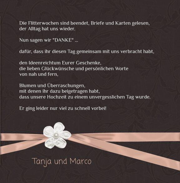 Ansicht 5 - Hochzeit Dankeskarte sanfte Blüte