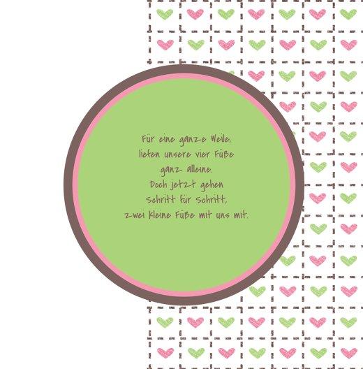 Ansicht 4 - Baby Dankeskarte Herzrahmen