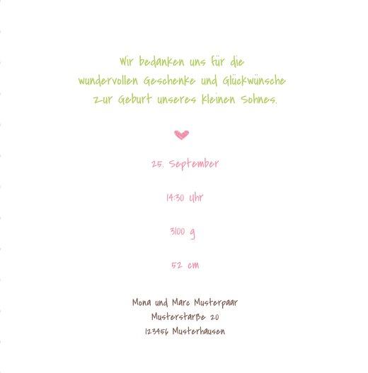 Ansicht 5 - Baby Dankeskarte Herzrahmen