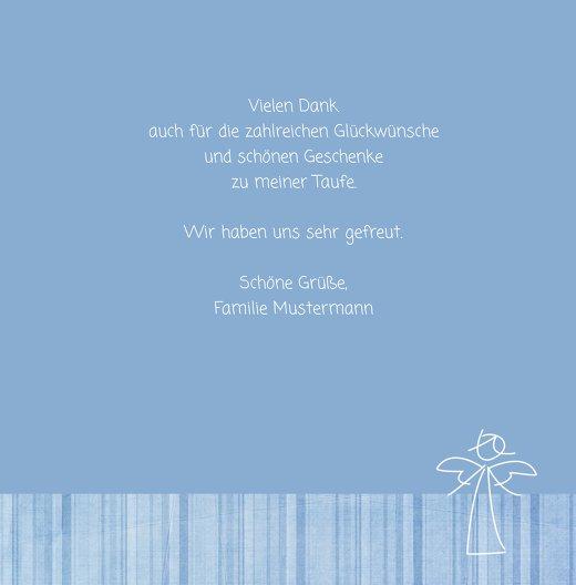 Ansicht 5 - Taufe Dankeskarte Streifentapete