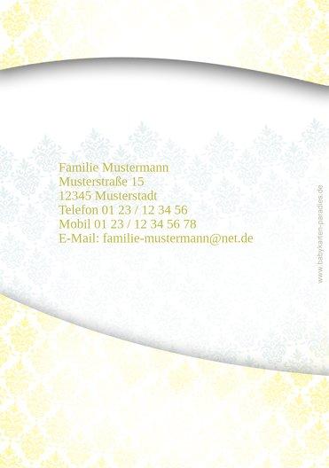 Ansicht 2 - Taufe Danke Floral Rapport