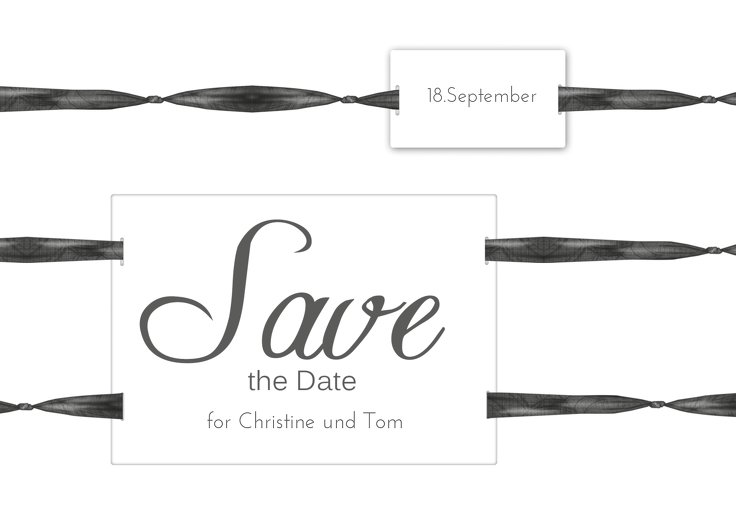 Ansicht 2 - Save-the-Date loop label