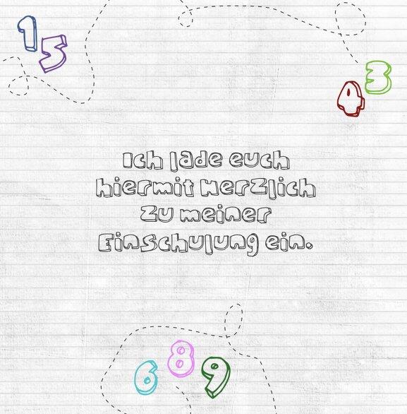 Ansicht 4 - Einladung Einschulung eins bis zehn
